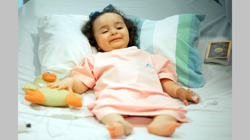 «لافين» تلقت الحقنة في مستشفى الجليلة وتخضع للعلاج.       من المصدر