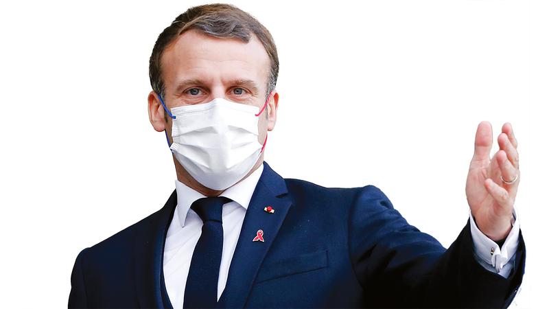 ماكرون يحلم بزعامة أوروبا والعالم.  غيتي