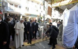 الصورة: بالصور.. لقطات من اليوم الثاني لزيارة البابا فرنسيس إلى العراق