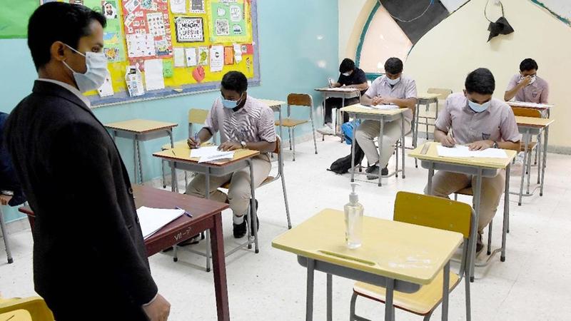 الجهات الصحية والتعليمية تنفذ دراسة لرصد شعور الطالب حيال تجربته الحالية في المدرسة.   تصوير: إريك أرازاس