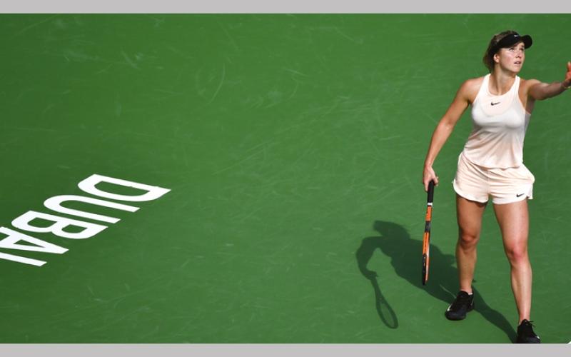 الصورة: غرافيك.. الأوكرانية سفيتولينا تغازل «الدلة» الثالثة في «تنس دبي»