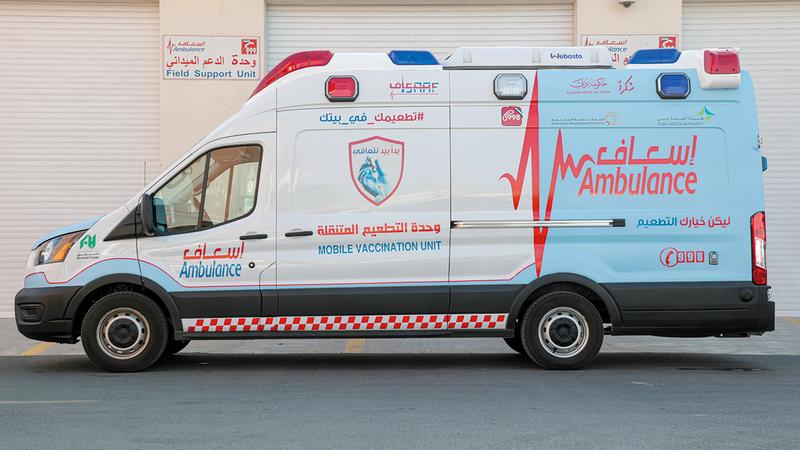 المركبة مزوّدة بأجهزة لتعقيمها تلقائياً وكاميرا لرصد درجة حرارة المتعاملين.  الإمارات اليوم