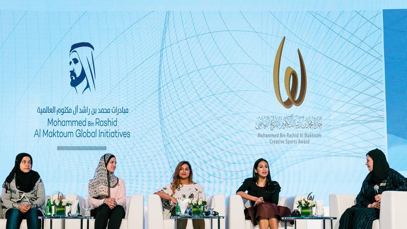 جائزة الإبداع الرياضي اهتمت بالبطلات العرب.   من المصدر
