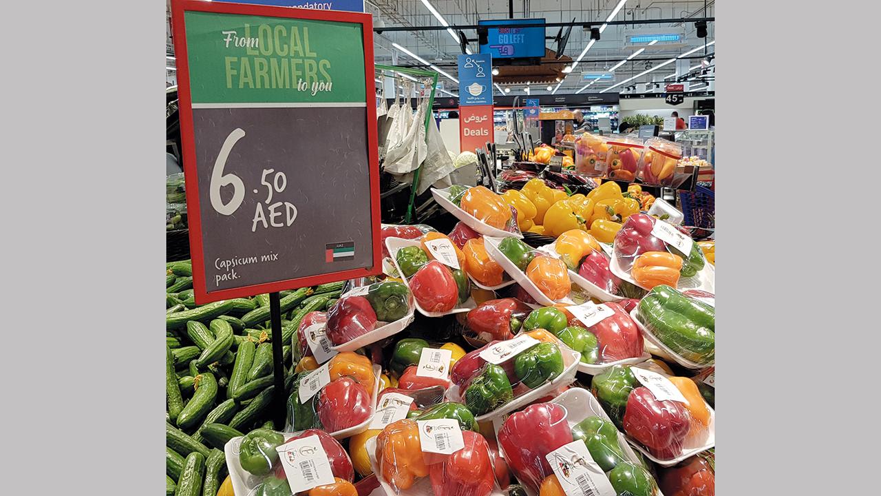 «كارفور» تستهدف رفع مبيعات المزارع المحلية إلى نسبة 20% من إجمالي مبيعات الخضراوات والفواكه.الإمارات اليوم