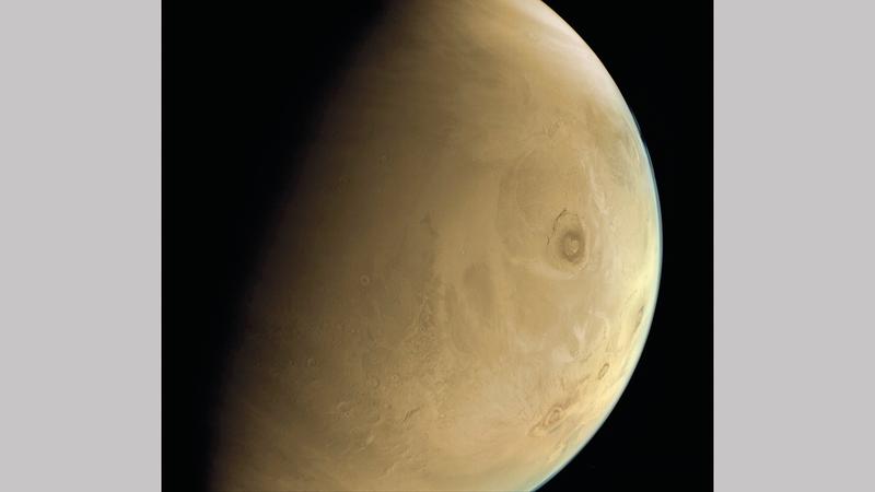 الصور الجديدة للكوكب الأحمر تؤكد كفاءة المسبار وأنظمته الفرعية وأجهزته العلمية وجودتها.  من المصدر