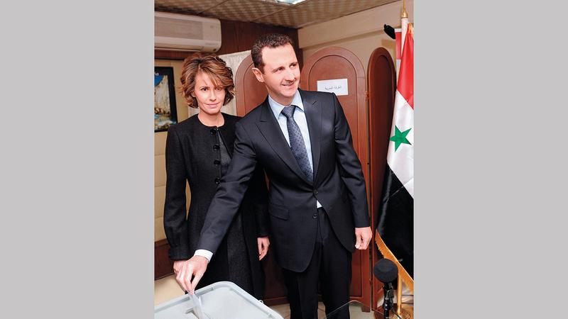 الأسد سيكون المرشح الوحيد تقريباً في الانتخابات المقبلة.  أ.ف.ب