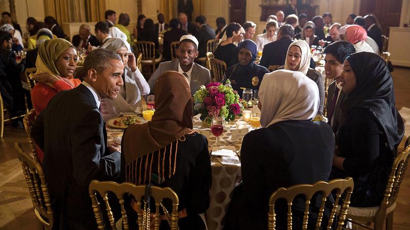 أوباما اعتاد استضافة إفطار رمضاني في البيت الأبيض خلال رئاسته. أرشيفية