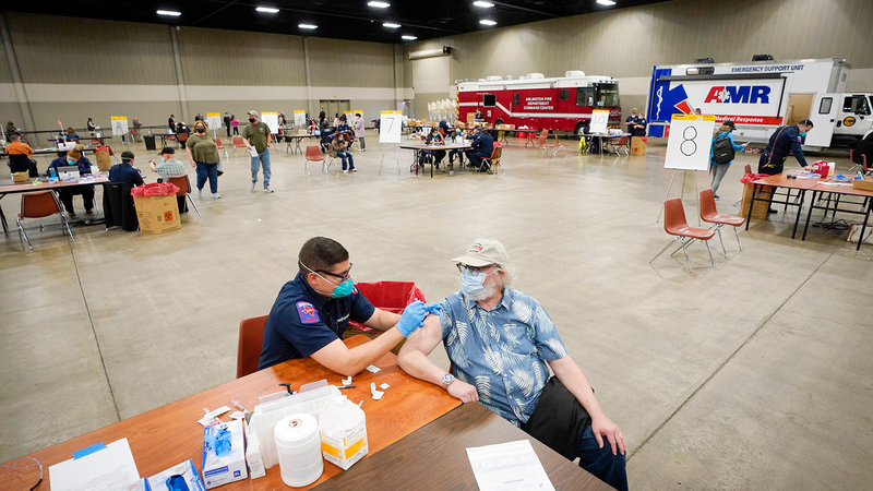 الآلاف من سكان سان بيدرو يستطيعون دفع تكاليف رحلة التطعيم ضد «كورونا» في أميركا.  من المصدر