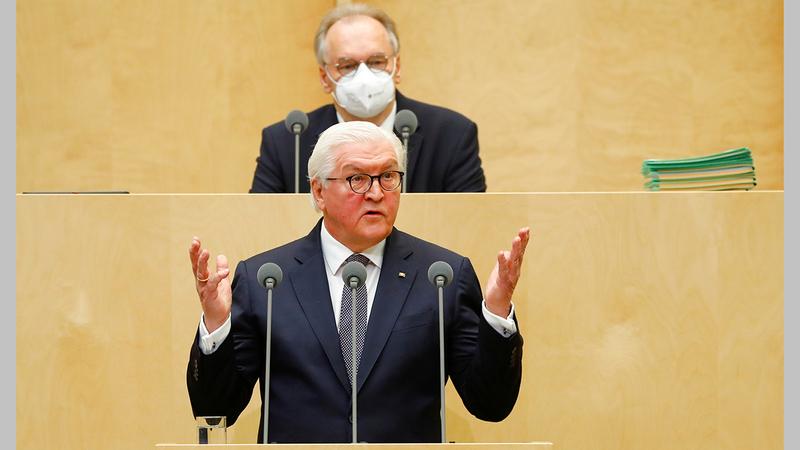 الرئيس الألماني فرانك - فالتر شتاينماير.  رويترز