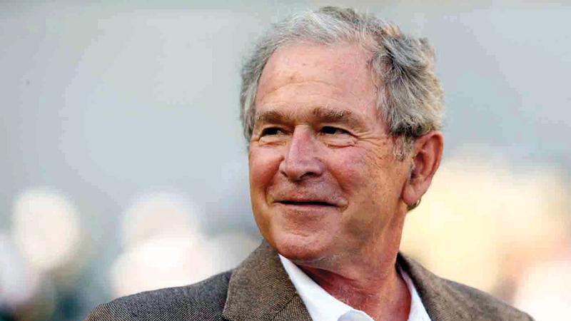 بوش الابن يتحمل نتيجة الحصاد المرير الذي زرعه.   من المصدر