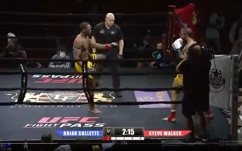 """الصورة: بالفيديو: مقاتل يذهل الجمهور بضربة فتاكة.. تعرّف إلى حركة الـ""""تورنادو"""" القاضية"""