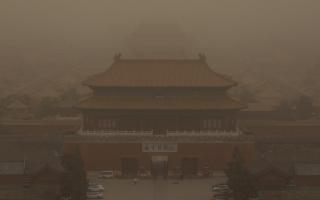 """الصورة: بالصور.. """"ضباب"""" الصين"""