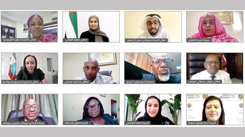 المشاركون ضمن الحوار الوزاري بين حكومة دولة الإمارات والدول الإفريقية.   من المصدر