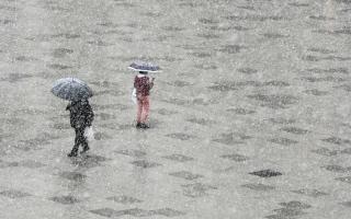 الصورة: بالصور.. الأمطار في كوسوفو