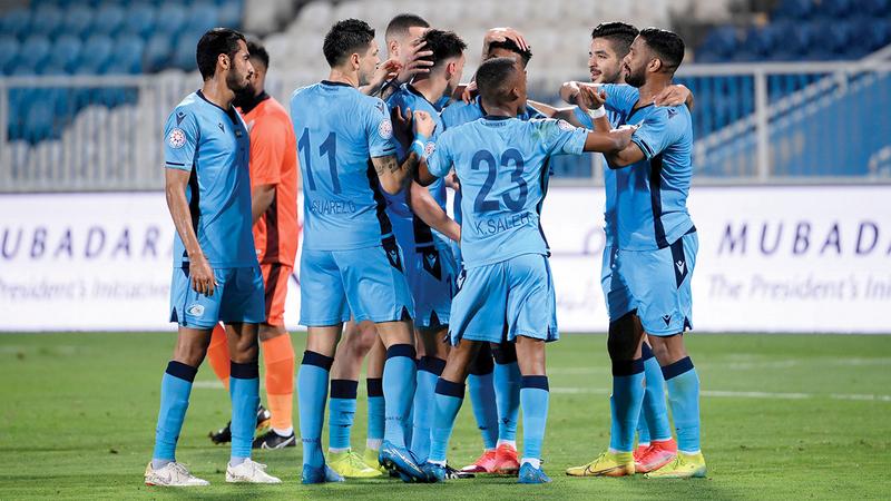 علامات الإرهاق بدت واضحة على بني ياس في مباراة حتا.    الإمارات اليوم