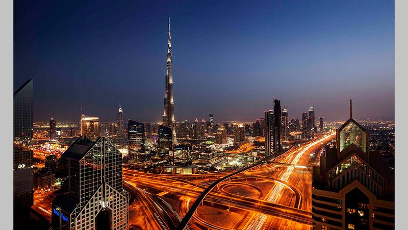 البنية التحتية تعد عاملاً رئيساً في تمكين الأمن والأمان وأداء دبي الحالي.  أرشيفية