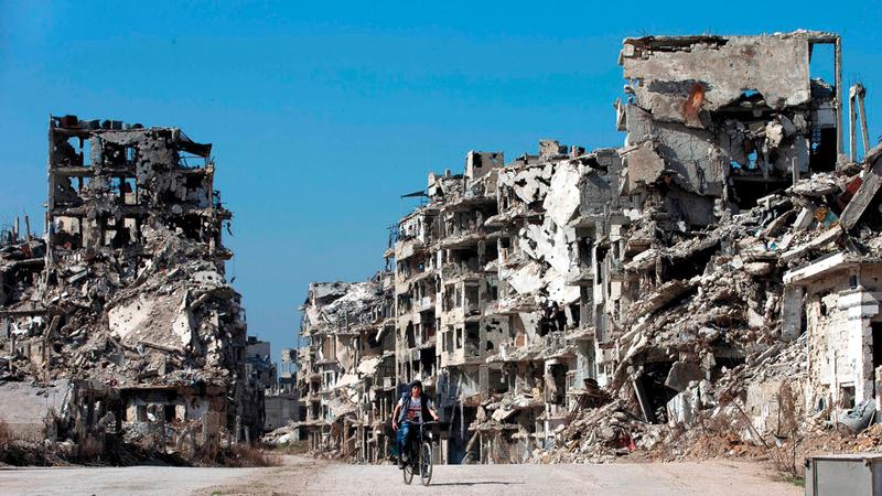 سنوات الحرب السورية دمرت البنية التحتية بالكامل.  أرشيفية