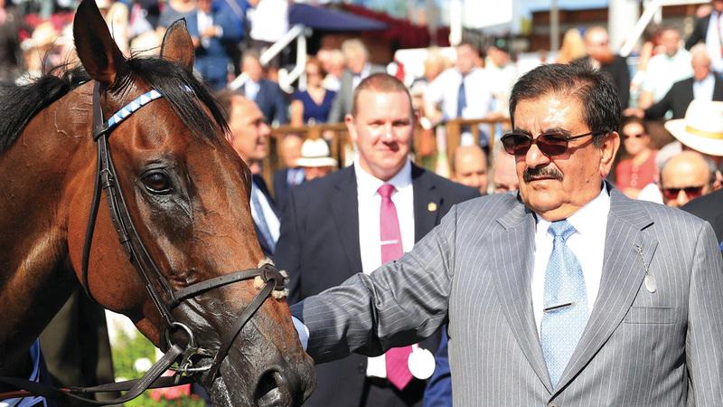 حمدان بن راشد ترك بصمات جلّية في عالم سباقات وتربية وصناعة الخيول.  من المصدر