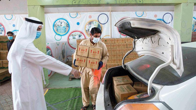 مساعدات الجمعية توزعت بين 16 باباً للخير والإحسان والتنمية المجتمعية.   من المصدر