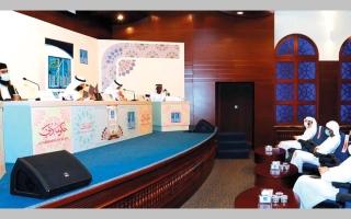 الصورة: اختبار الدفعة الثانية من المتسابقين لجائزة دبي الدولية للقرآن