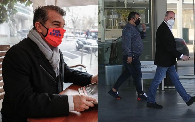 الصورة: بالفيديو.. وكيل هالاند ووالده يصلان برشلونة للتفاوض على انتقاله