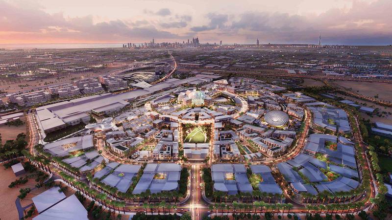 «إكسبو 2020 دبي» ينطلق في الفترة من 1 أكتوبر 2021 إلى 31 مارس 2022. أرشيفية