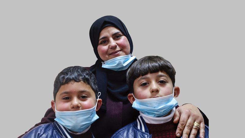 دلال الزبن فخورة بأنها أول زوجة أسير فلسطيني في قطاع غزة حملت عن طريق النطف المهربة.  أ.ف.ب