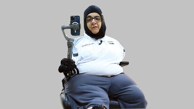 عائشة الشامسي:  «تشجيع الأصدقاء والأهل وراء تجاوز حاجز الخوف والانتساب إلى نادي دبي لأصحاب الهمم».
