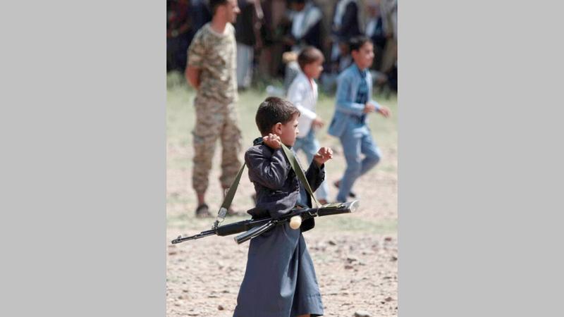 «هيومن رايتس ووتش» تتهم الحوثيين بتجنيد الأطفال.   أرشيفية