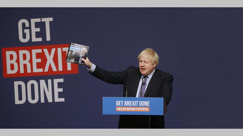بوريس جونسون سوّق خروج بريطانيا من الاتحاد الأوروبي على أساس وعد واسع ب «عصر جديد».  أرشيفية