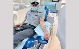 الصورة: حملة تبرع بالدم لمنتسبي «ترخيص أبوظبي»