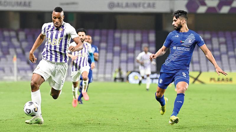 العين خسر من النصر في آخر مباراة له قبل الظهور الآسيوي. = الإمارات اليوم