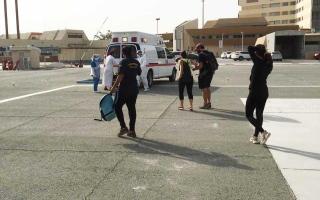 الصورة: إنقاذ 9 أشخاص علقوا في منطقة شحة الجبلية برأس الخيمة