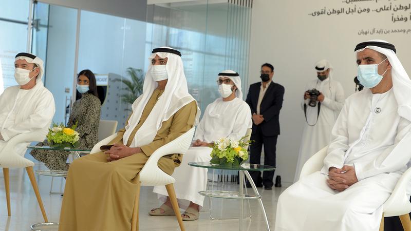 نهيان بن مبارك خلال إطلاق المبادرة الجديدة.   الإمارات اليوم