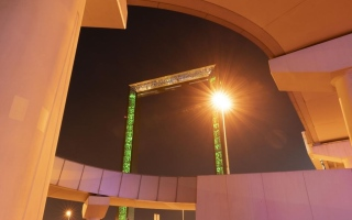 """الصورة: بالصور.. معالم الدولة تتزين باللون الأخضر احتفاء بـ """"براكة"""""""