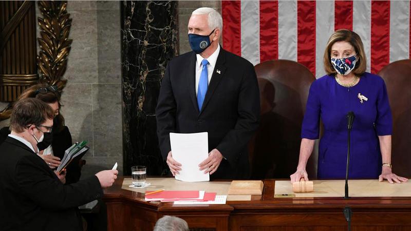 تم تهريب بنس من الكونغرس يوم تثبيت فوز بايدن خشية تعرّضه لمكروه.  أرشيفية