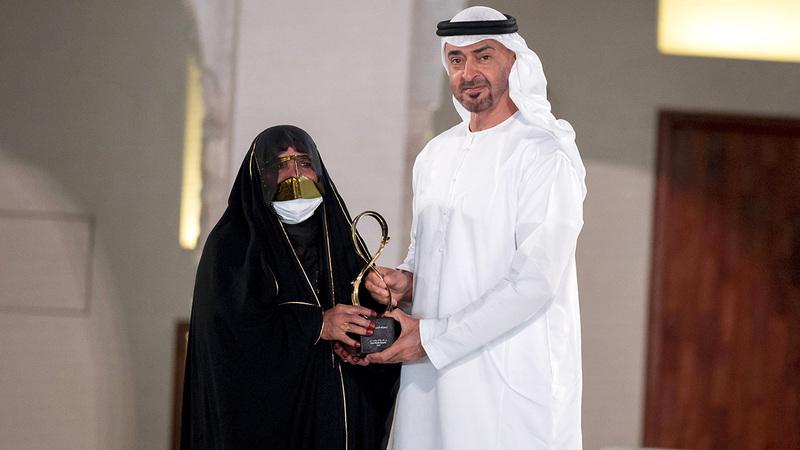 محمد بن زايد يكرم زعفرانة خميس. وام