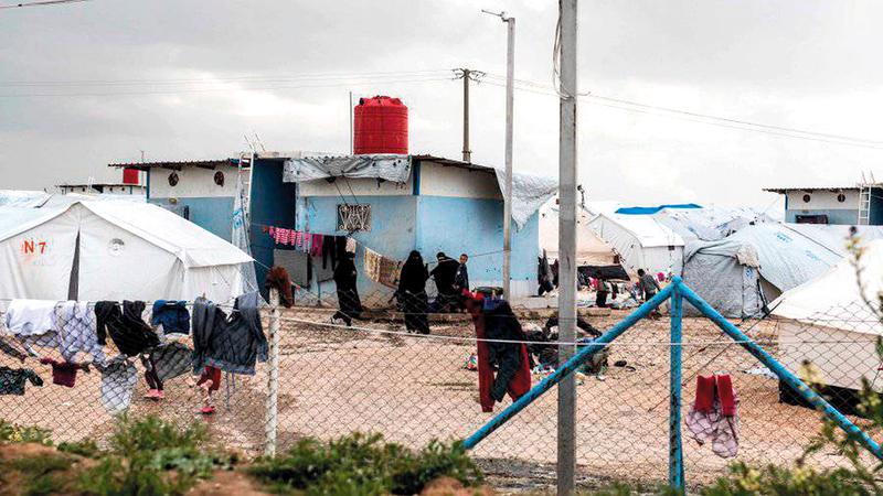 مخيم الهول.  من المصدر