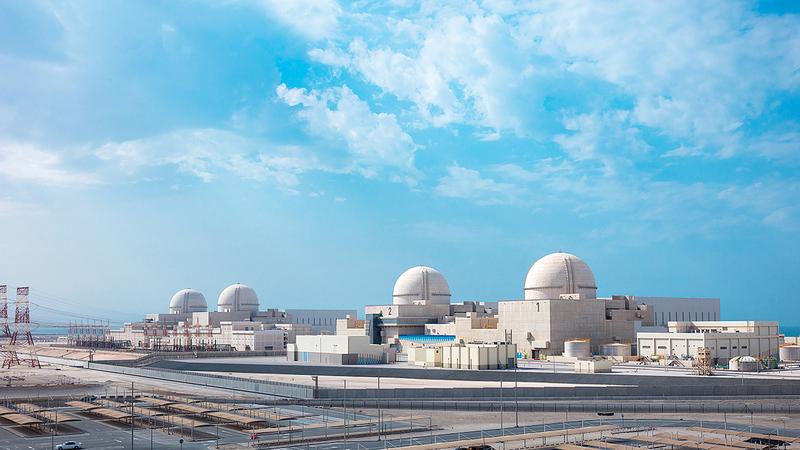 «براكة» مثال ممتاز لكيفية إسهام الطاقة النووية في خفض الانبعاثات الكربونية.  أرشيفية