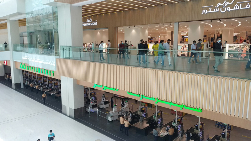 مع افتتاح مركز التسوّق الجديد يرتفع عدد متاجر المجموعة إلى 209 على مستوى العالم.  الإمارات اليوم