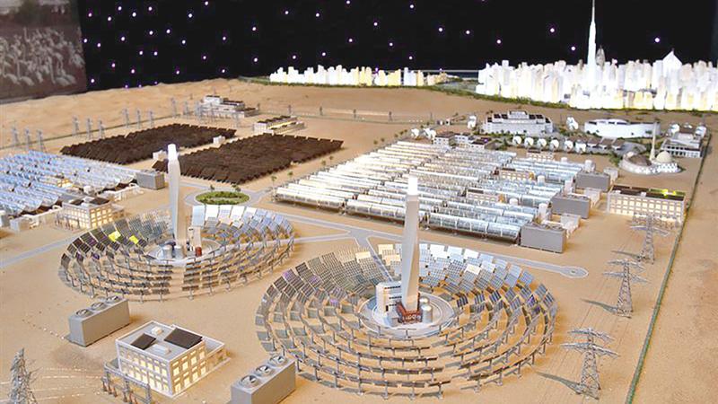 دبي تسعى إلى أن تصبح عاصمة عالمية للاقتصاد الأخضر والتنمية المستدامة.أرشيفية