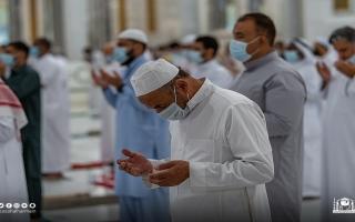 الصورة: بالصور: تراويح رمضان في المسجد الحرام