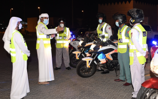 الصورة: دراجات نارية لمراقبة الطرق والأسواق خلال شهر رمضان برأس الخيمة