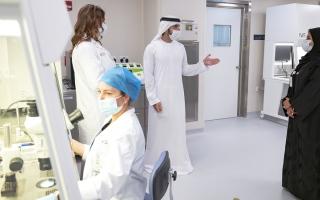 الصورة: حمدان بن محمد يدشّن المقر الجديد لمركز دبي للإخصاب