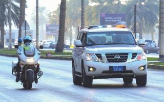 الصورة: دوريات أمنية لمراقبة التجمعات العائلية في الشارقة