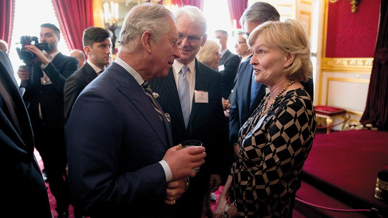 تم إيكال بعض مهام الملكة لابنها الأمير تشارلز. أ.ب