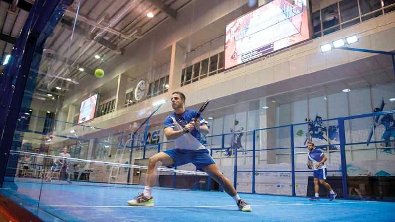 البادل تنس من أسرع الرياضات انتشاراً في الدولة.من المصدر