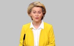 الصورة: رئيسة المفوضية الأوروبية ترفض بـ «استخفاف» دعوة الرئيس الأوكراني