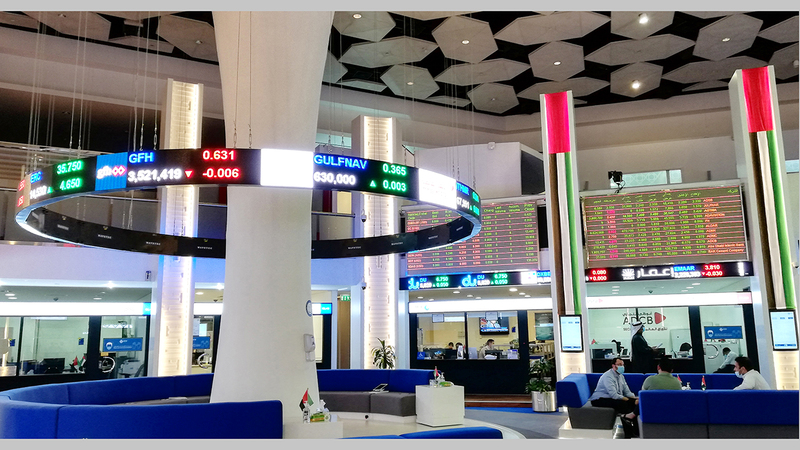 مؤشر سوق دبي المالي أغلق عند مستوى 2633 نقطة.  تصوير: أحمد عرديتي
