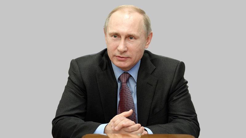 بوتين احتفل بسيطرته على شبه جزيرة القرم.  أ.ب